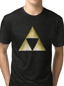 Force of three, golden version Tri-blend T-Shirt