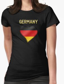Germany - German Flag Heart & Text - Metallic T-Shirt