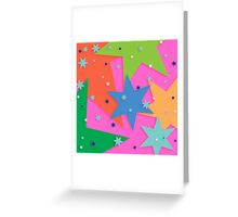 Starry and Colourful Greeting Card