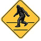 Caution! Bigfoot Crossing! by Ninjangulo