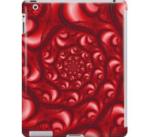 Fractal Web in Red White and Black iPad Case/Skin