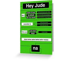 Hey Jude Greeting Card