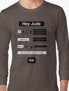 Hey Jude Long Sleeve T-Shirt