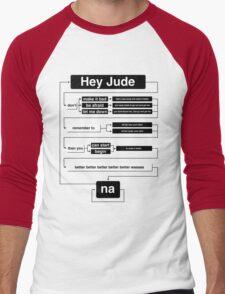 Hey Jude Men's Baseball ¾ T-Shirt