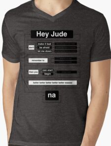 Hey Jude Mens V-Neck T-Shirt