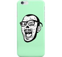 Owl Vision Zombie Face (mint) iPhone Case/Skin