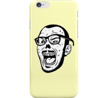 Owl Vision Zombie Face (yellow) iPhone Case/Skin