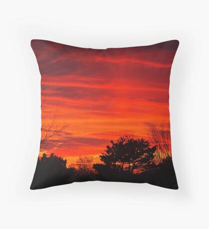 Burning Bushes Throw Pillow