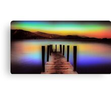 Derwent Water Jetty at Dusk Canvas Print