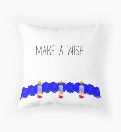 Make A Wish | Birthday Cake Throw Pillow