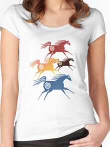 Ancient Horses  Women's Fitted Scoop T-Shirt
