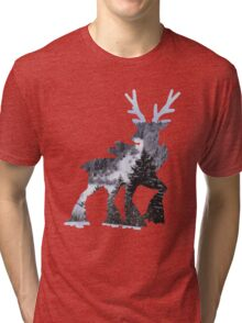 Sawsbuck (winter) used natural gift Tri-blend T-Shirt