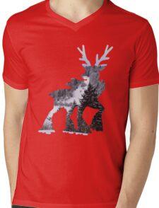 Sawsbuck (winter) used natural gift Mens V-Neck T-Shirt