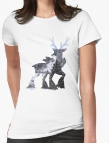 Sawsbuck (winter) used natural gift Womens Fitted T-Shirt