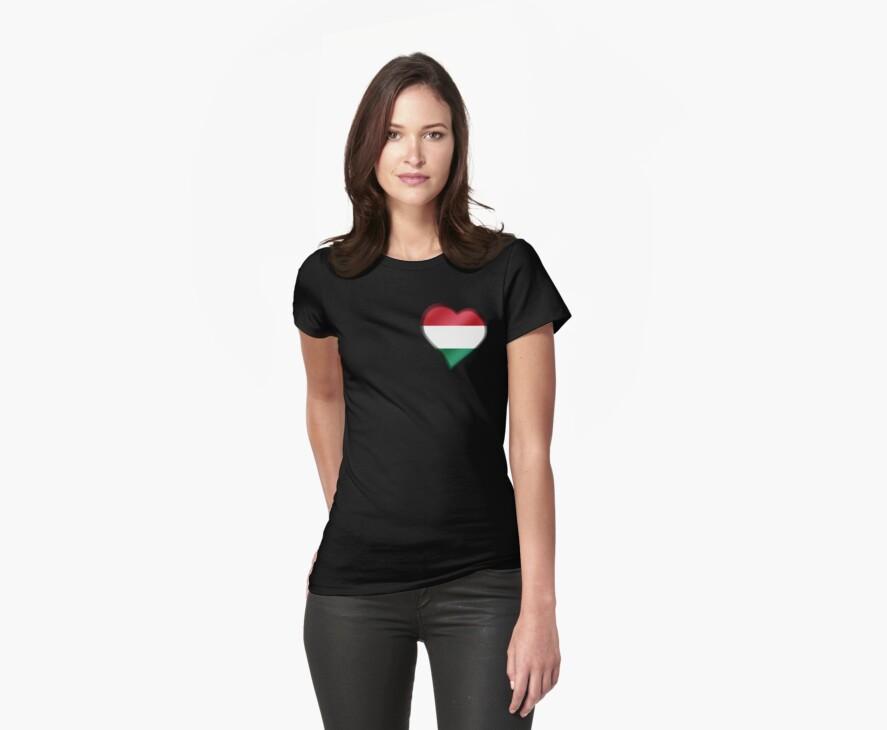 Hungarian Flag - Hungary - Heart by graphix