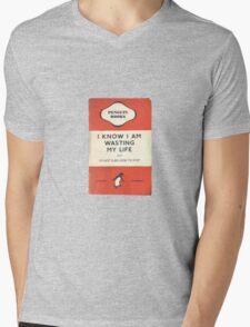 I Know I'm Wasting My Life Mens V-Neck T-Shirt
