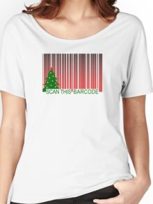 MERRY XMAS BARCODE Women's Relaxed Fit T-Shirt