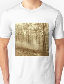Bushfire at sunset in sepia tone Unisex T-Shirt