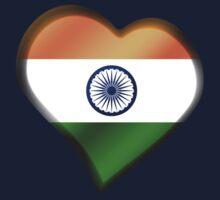 Indian Flag - India - Heart Kids Tee