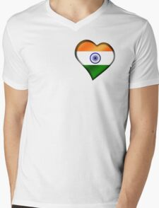 Indian Flag - India - Heart T-Shirt