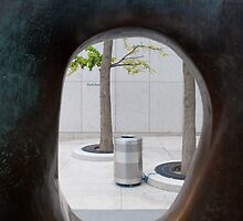 Looking Through Part of Large Two Forms at the AGO by Gary Chapple