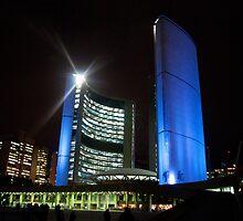 Toronto City Hall at Night by Gary Chapple