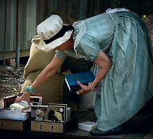 Preparing for trade ~ Australian Pioneer Village, Wilberforce by Rosalie Dale