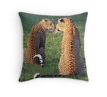 Making Eye Contact Throw Pillow