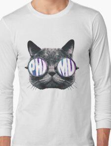 Phi Mu Cat Galaxy Long Sleeve T-Shirt