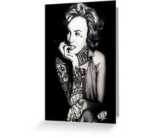 Ms. Marilyn Suicide I (Print) Greeting Card