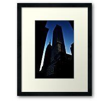 100th floor please Framed Print