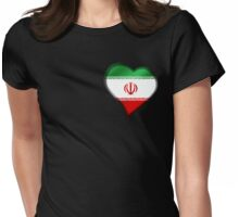 Iranian Flag - Iran - Heart Womens Fitted T-Shirt