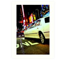 limo out of my way Art Print
