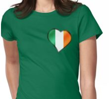 Irish Flag - Ireland - Heart Womens Fitted T-Shirt