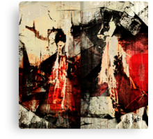 Little Red Riding Hood and the Big Bad Wolf Canvas Print