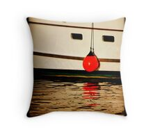 A Boat Named Rudolph Throw Pillow