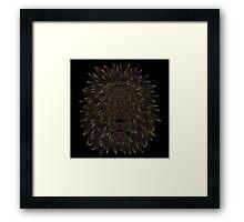 golden lion / black Framed Print