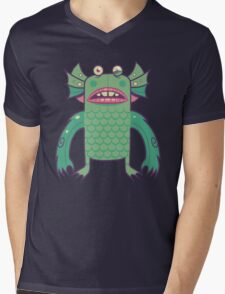 Black Lagoon Monster's Ugly Brother Mens V-Neck T-Shirt