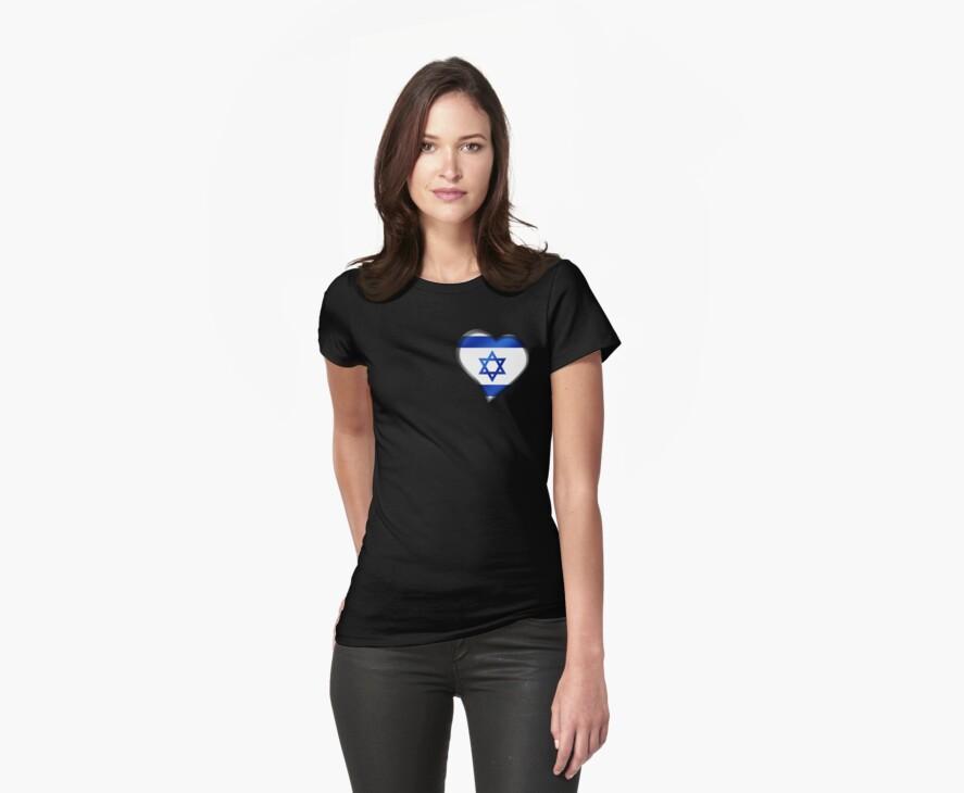 Israeli Flag - Israel - Heart by graphix