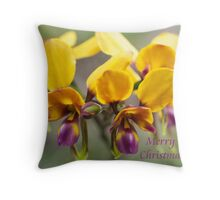 card - pansy orchid 2 Throw Pillow
