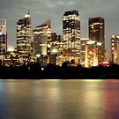 Sydney City by Night by Nicole Wells