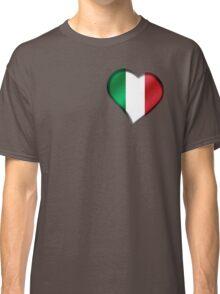 Italian Flag - Italy - Heart Classic T-Shirt