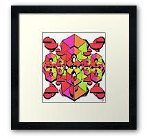 Geometric Colour Construction 1 Framed Print