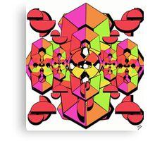 Geometric Colour Construction 1 Canvas Print