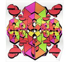 Geometric Colour Construction 1 Poster