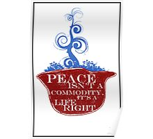 PEACE ISN'T A COMMODITY...  Poster