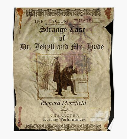 Altered, Robert Louis Stevenson's Strange Case of Dr. Jekyll & Mr. Hyde Theatre Poster Poster