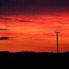 Sunset over Fynnes Meadow & Townlands by Christopher Cullen