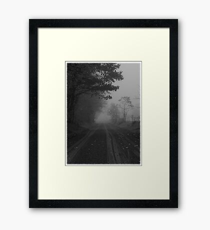 What is this that stands before me? Figure in black which points at me..Turn around quick and start to run..Find out I'm the chosen one (photo) Framed Print