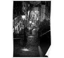 Un Escalier à  Montmartre Poster